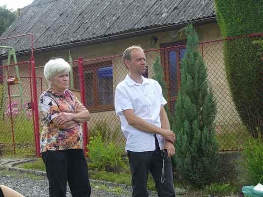 Jiří Firýt s matkou.