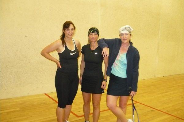squash camp - Martina, Jana a Jitka na tréninku